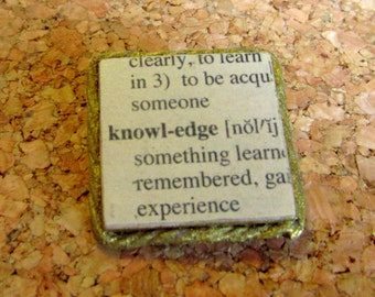 "Literary Pin/Brooch  ""Knowledge"""
