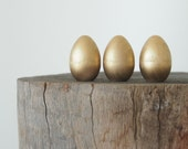 Golden Easter Eggs, Gold Natural Home Decor, Nature Decorations, Fairytale Wedding, Spring Nature Table Display, Rustic Woodland Metal