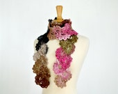 Crochet Lace Scarf Queen Anne's Lace Neckwarmer