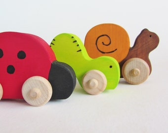 Wooden Mini Bug Set Toddler Toys- Waldorf Bugs