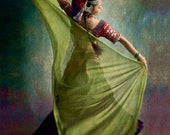 Tribal Dance, trance, belly dance, movement, joy, twirl, happiness, colorful, green, red, purple,dance, Middle Eastern Trance