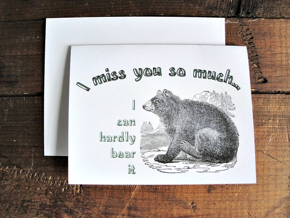 I miss you... - Greeting Card