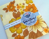 Yellow & Orange Bold Retro Floral English Vintage Fabric Fat Quarter