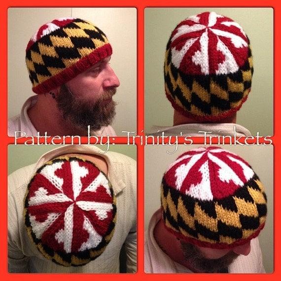 Maryland Flag Hat Knitting