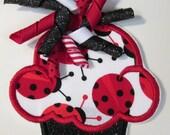Iron On Applique - Ladybug Cupcakes