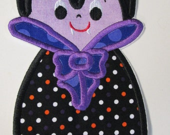 Halloween Dracula Iron On Applique