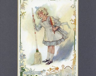 1910 Antique Print - How Dorothy Became a Princess from The Emerald City of Oz Book