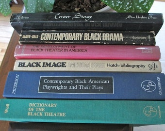 Black American Theater and Drama Library- Biography, Dictionary, Bibliography, American Negro, Plays. Literature. Black History. Minority.
