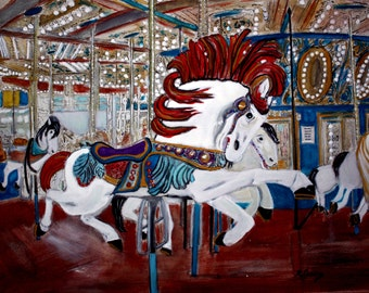 Carousel Seaside, NJ-SIGNED PRINTS 8 X 10 - 13 X 19- 35.00. Message me and I will list them for you.