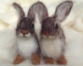 Needle Felted Rabbit Cottontail Baby Young Bunny