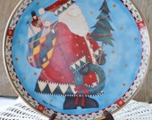 Vintage / Santa Plate / Collectors Plate / Christmas Deliveries / Debbie Mumm / Shipping Included