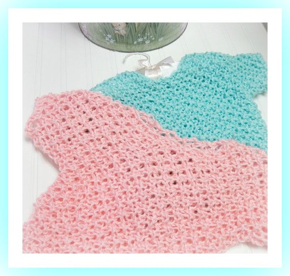 One Piece Slip-Over Top  Knitting Pattern  from Toddler to Teen Sizes