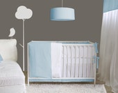 Baby bedding - Basic collection - Pastel -  2pc Set - Crib and Box pleat skirt and fitted sheet - choose your fabric