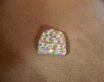 Hand Knitted - Baby Hat in Multi Colors
