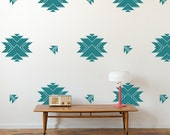 Aztec Wall Pattern Vinyl Wall Decals, Aztec Pattern- 24 Graphics, Wallpaper, Stickers,  item 10040