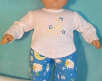 15 inch Doll Sleeping Moon Pajamas