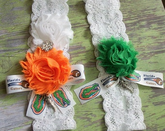 Gator garter wedding
