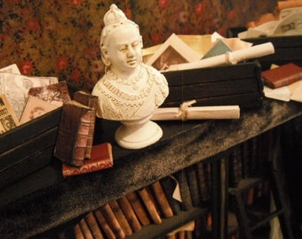 Miniature Crateful of Antique Papers