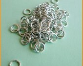 100 Aluminum Open Jump Rings 16 Gauge 8mm Lightweight Silver Tone