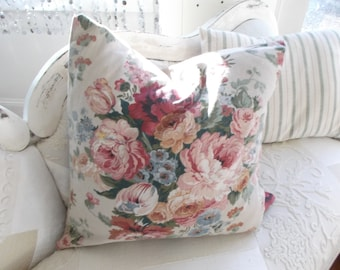 vintage  pillow cover faded shabby chic cottage farmhouse style decor