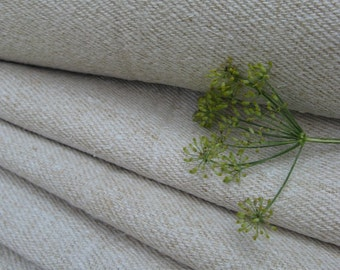 C 802 antique upholstering fabric PALE CREAMY  runner stairrunner fabric 9.50 y handloomed biological fabric primitive