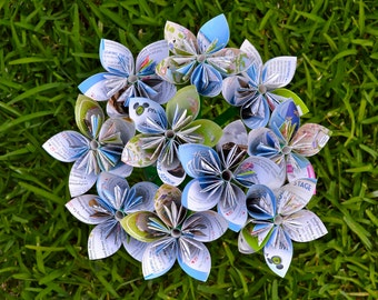 Disney Hollywood Studios Park Map Paper Flowers {10 Small Size}