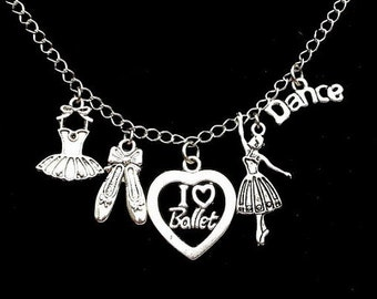 Dance necklace or dance bracelet, love to dance, antiqued silver