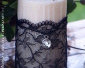 Alluring ENCHANTRESS Soy Candle w/ English Black Lace, Baltic Amber and 6 Grael Herbs for Spellcasting, Enchantment, Bewitchment, Seduction