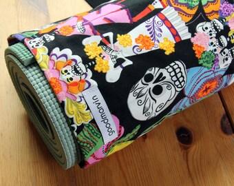 Yoga Mat Bag, Pilates Mat Bag, Day of the Dead, Happy Skeletons, Alexander Henry