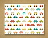 Thank You Cards - Cool Retro Pop Tone Cars - Liam