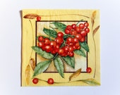 Rowanberry Napkin, Paper Napkin for Decoupage, Craft Napkin, Scrapbooking Napkin, Decoupage Paper Tissue