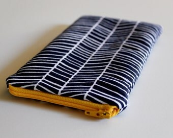 Eyeglass/Sunglass Case - Navy Herringbone