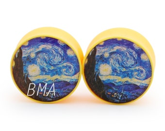 2g Starry Night Yellow Plugs (6mm)