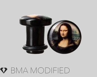 2g (6mm) Mona Lisa BMA Plugs Single Flare Pair