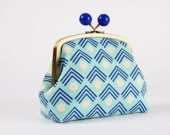 Metal frame clutch bag - Corners in blue - Color bobble purse / Exclusive new Ellen Luckett Baker collection / Framework / geometric  modern