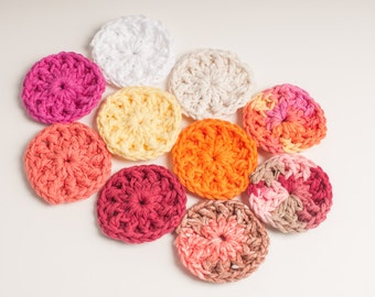 Face Scrubbers Makeup Pads, Makeup Remover Face Scrubbies, Multi Pack, USA Grown Cotton , US Shipping Included, Made to Order, Custom