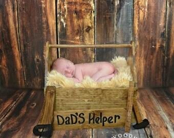 NEWBORN Wooden tool box Photo Prop~ Newborn photography prop~photo prop newborn baby~Tool Box Photo Prop~Photography~Infant Photo Prop~