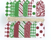 Christmas Gift Hang Tags - Christmas Basics Too Scallop Die Cut Tags (18) Package Decor / Ready To Ship