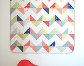 Sunny Chevron Quilt Kit in the small Throw Size Very Beginner Friendly