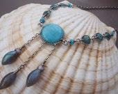 Aqua Dream Catcher Necklace