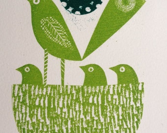 Spring greens gocco by Jane Ormes