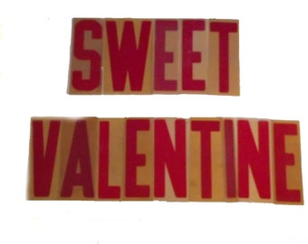 Sweet Valentine Sign Letters / Vintage  80s Outdoor Acrylic Plastic Letters