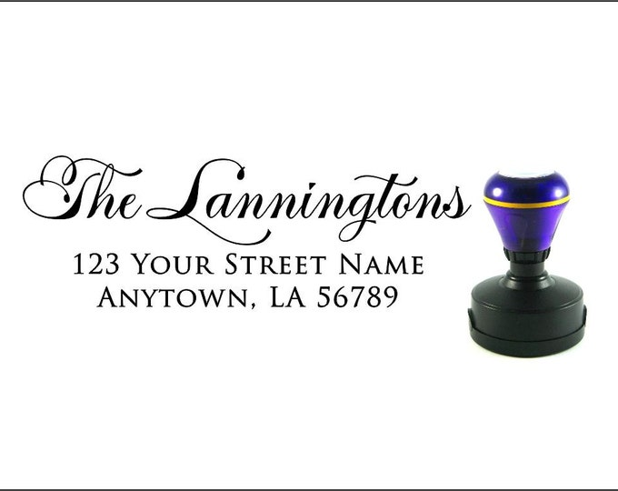 Personalized Self Inking Return Address Stamp - self inking address stamp - Custom Rubber Stamp R213