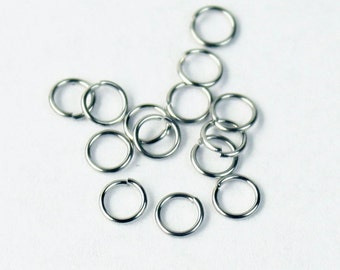 Jump RINGS 100 pcs of STAINLESS Steel Jump Rings Link Surgical Jumprings 3mm 26G Necklace Bracelet Wholesale Jump Rings Bulk Jumprings