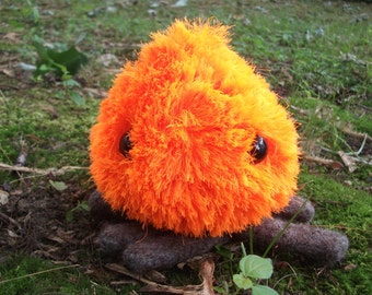 Campy the Campfire plush, stuffed campfire, knit campfire, campfire toy, fire spirit plush toy, stuffed animal bonfire, made to order