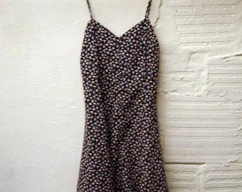 Floral Grunge Dress Vintage 1980s Pattern Florcore Rayon Babydoll dress