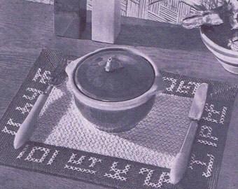 Vintage Crochet PATTERN 7001 Western Place Mat 1950s PDF Instant Download