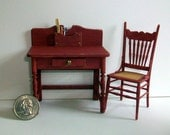 Miniature Desk and Chair  1:12 scale