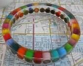 Resin Bracelet, Bangle Bracelet, Resin Jewelry, Colored Pencil, Teacher Gift, Upcycled, Rainbow, Multi Color