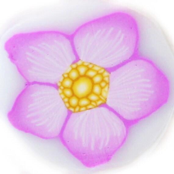Soft Purple Star Flower Polymer Clay Cane - Purple Flower Clay Cane - Lavander Flower Clay Cane by Dicope